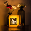 Picture of Mahy's Candles Customizable Large Brass Luminary