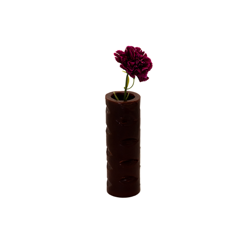 Picture of Mahy's Candles Brown Bites Flower Vase (Made out of Wax)