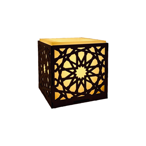 Picture of Big Handcrafted Wooden Luminary candle